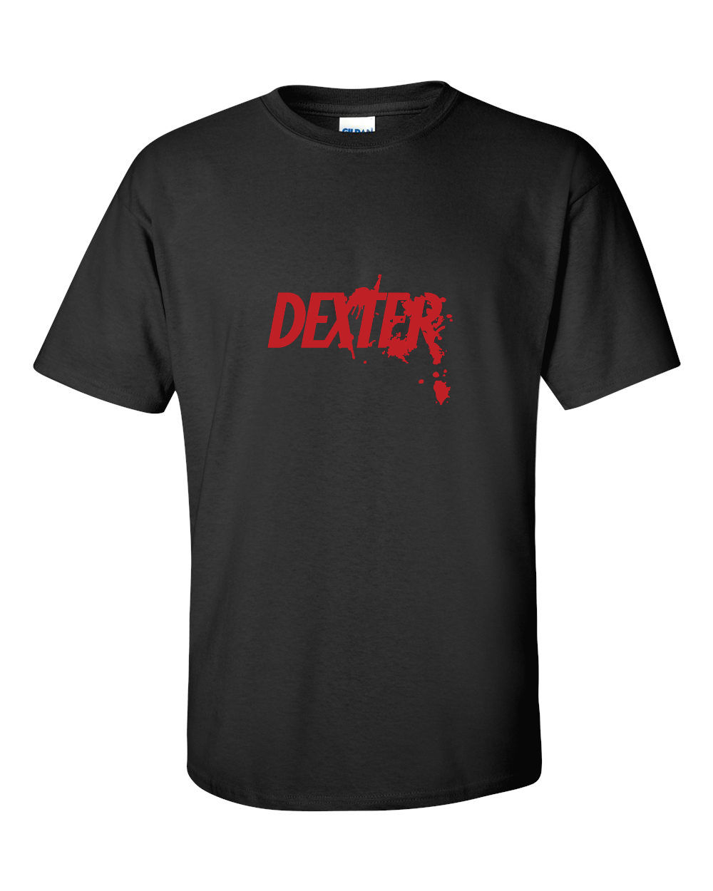 Camiseta con estampado de algodón de 100% para hombre, camiseta de Dexter con cuello redondo o diseño de salpicaduras de sangre, camiseta inspirada en Dvd de temporada