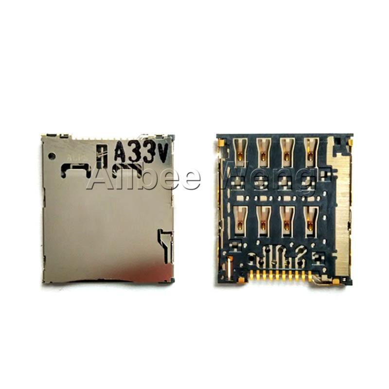 Para Samsung I8730 C101 Para ASUS K004 ME371mg Para OPPO X907 para Alcatel 6010D SIM Card Tray Titular Slot Soquete do Conector Jack