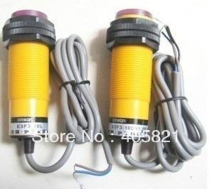 الكهروضوئي التبديل ، E3F3-10DP1 10L ، PNP ، 3-سلك لا ، قطر 30 مللي متر