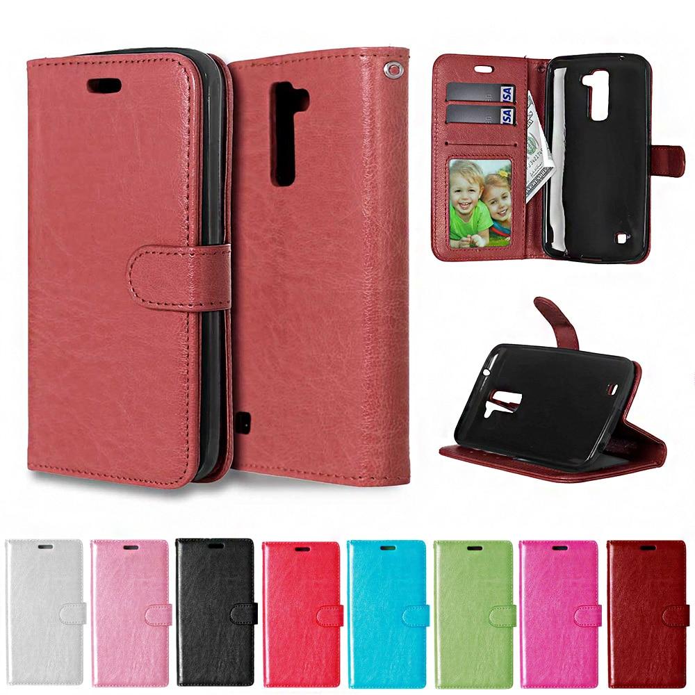 Para LG K 10 K10 LTE caso K410 K420N K430 K430DS K430DSF color sólido de cuero caso de teléfono para M2 M 2 F670