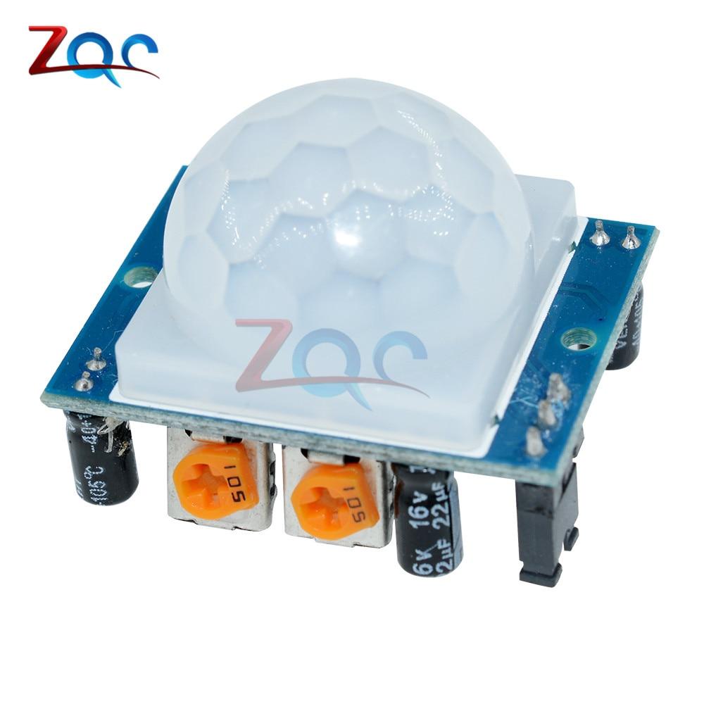 2 pcs envio SR501 HC-SR501 Ajuste módulo IR Infravermelho Piroelétrico PIR Motion Sensor Detector Módulo para Arduino