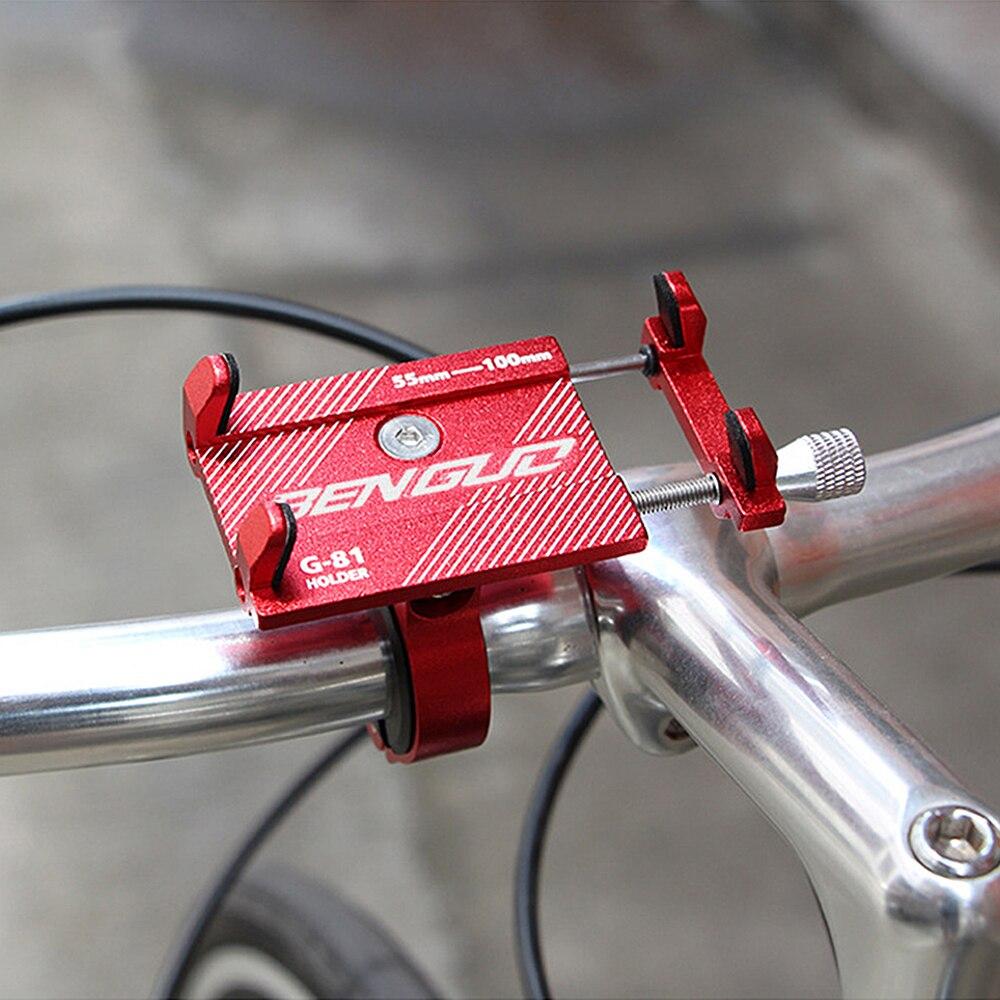 Soporte de montaje de teléfono de bicicleta de aluminio G-81 para teléfono inteligente de 3,5-6,2 pulgadas Soporte ajustable GPS bicicleta MTB soporte de montaje para teléfono móvil soporte