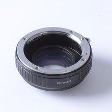 Réducteur De focale speed booster turbo adaptateur pour Pentax PK Lentille pour m4/3 monture GF5 GF6 GX7 EM5 E-PL6 E-PL5 E-PM2 OM-D