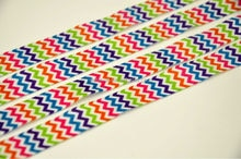 "5/8"" Sublimation Print Rainbow Chevron Fold Over Elastic FOE Ribbon for DIY Hearwear Hair Tie Girls Hair Accessories 50Y/Lot"