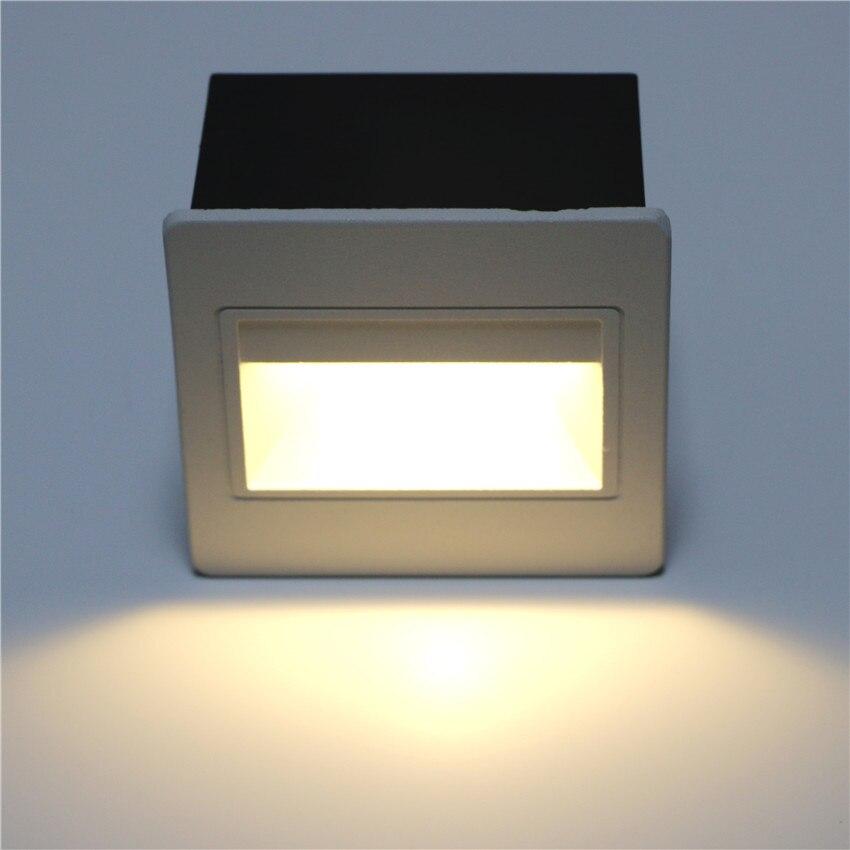 Luz LED de pared IP65, lámpara de pared de aluminio impermeable para exteriores, para Hotel cuadrado, escaleras, escalón, vestíbulo, luces de esquina de pared BL13