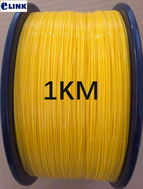 1000mtr 0.9mm a serré le câble à fibres optiques G652D G657A 9/125um SM jaune pour des tresses de fibre ftth fil monomode 1 km/roll ELINK
