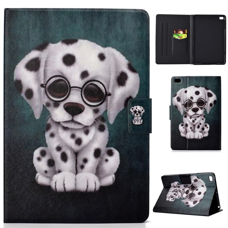 Cute dog cat owl magnet PU tablet case for Ipad mini 1/2/3 mini 4 cover leather cases hoesje coque kryt etui funda tok