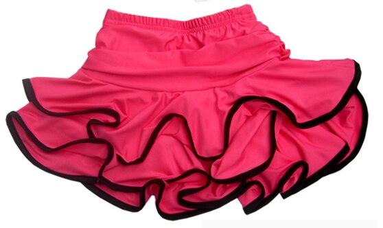 Ropa de baile latino, falda con volantes, mallas dobles, crony, falda Latina para adultos