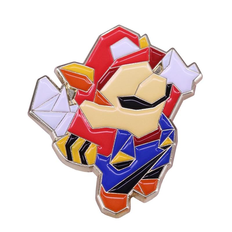Super Mario placa volar mapache broche Nintendo colección vintage joyería