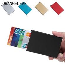 Automatiquement métal Business ID porte-carte de crédit portefeuilles minces étui de poche carte de crédit bancaire paquet boîte de carte nouveau
