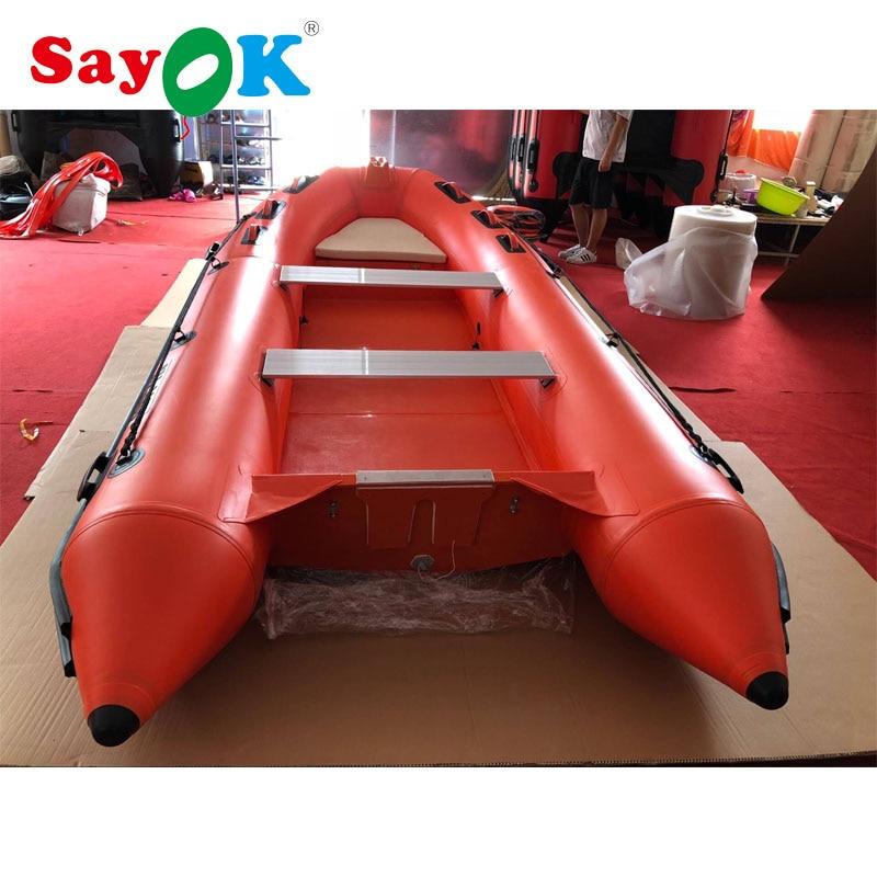 الضلع 390 قارب قابل للنفخ قارب صيد قابل للنفخ مع أرضية بدن الألياف الزجاجية ، قارب قابل للنفخ الأحمر قارب إنقاذ للبيع