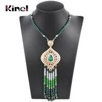 kinel luxury indian ethnic long pendant necklace for women fashion gold boho handmade beading vintage wedding jewelry 2019 new