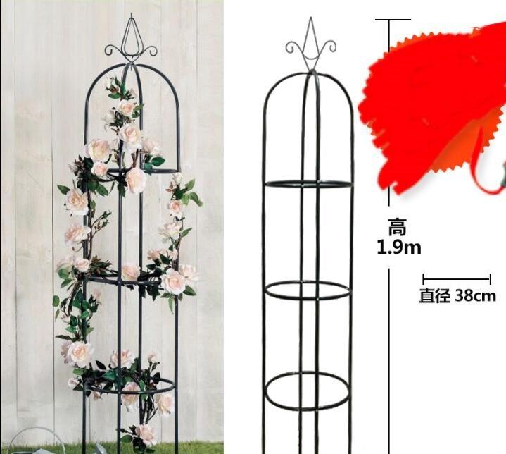 "Height 190CM/74.8"" Metal Arbor Climbing Frame Pergola In White/Green Garden Buildings Wedding Road Lead"