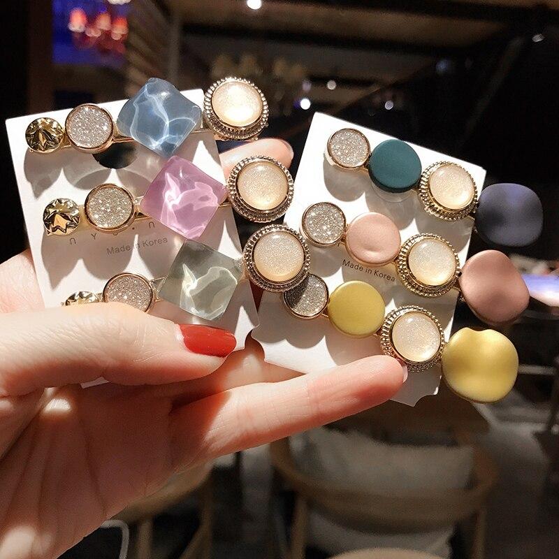Nueva Marca Koren moda perla Color dorado Metal Clip para el cabello horquilla para mujeres niñas accesorios para el cabello