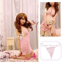 New Sexy Lace Transparent nighty Dress Lingerie Underwear Sleepwear G-String Hot