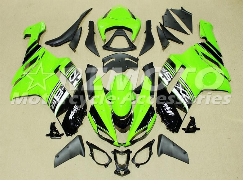 Novo Estilo Abs Motorcycle Fairing Kit Fit para kawasaki Ninja 636 2007 2008 07 ZX6R 08 6R ZX-6R Carroçaria personalizado verde fresco preto