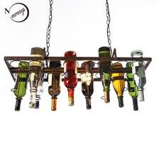 Loft-bouteille de vin suspendue rétro, liv de plafond en fer, E27 lampes en LED pour le salon, bar, cuisine du restaurant, maison