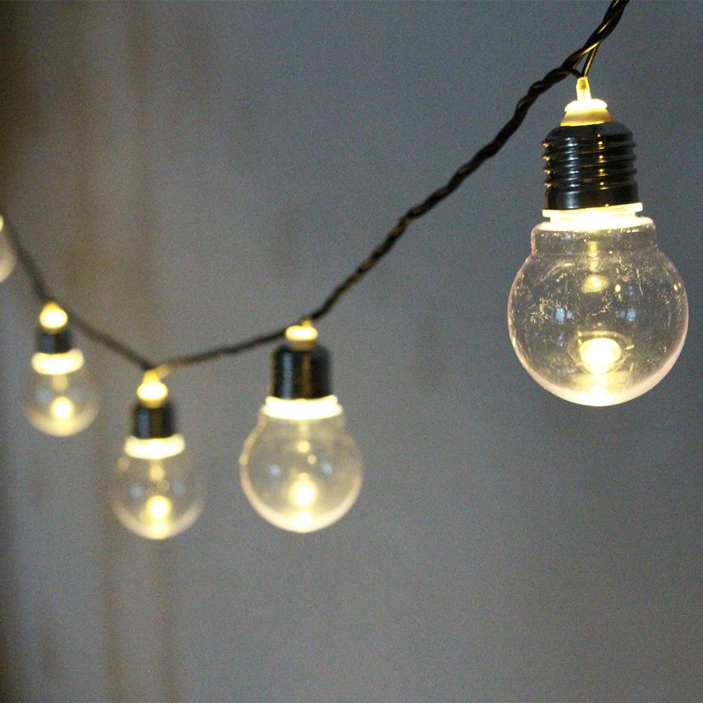 Festoon led globe led wedding string light fairy 20 LED bulb Christmas fairy light garland garden patio decoration