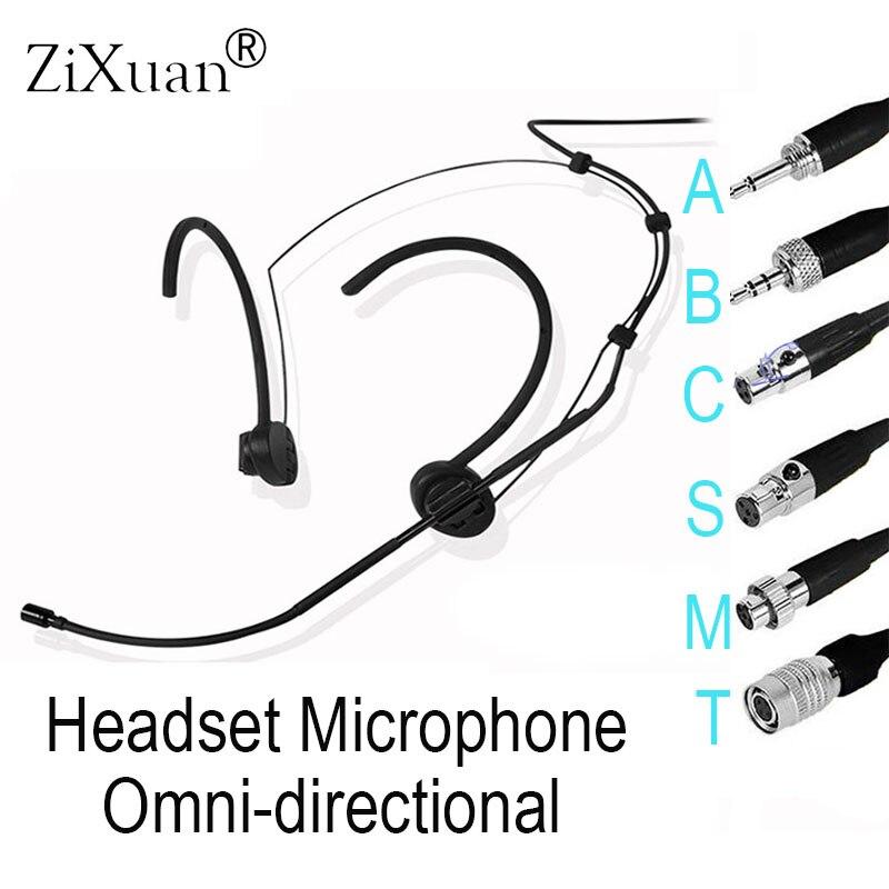T24 omnidireccional negro Cómodo auricular headworn, para Shure Audio Technica Sennheise MiPro sistema inalámbrico