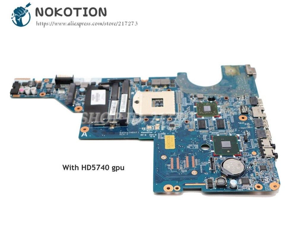 NOKOTION 615578-001 595183-001 DA0AX1MB6H0 para HP Pavilion CQ42 G62 placa base de computadora portátil HM55 DDR3 HD5470 tarjeta de Video