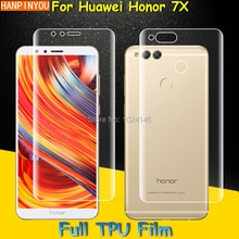 Front / Back Full Coverage Clear Soft TPU Protect Film Screen Protector For Huawei Honor 7X Cover Cu