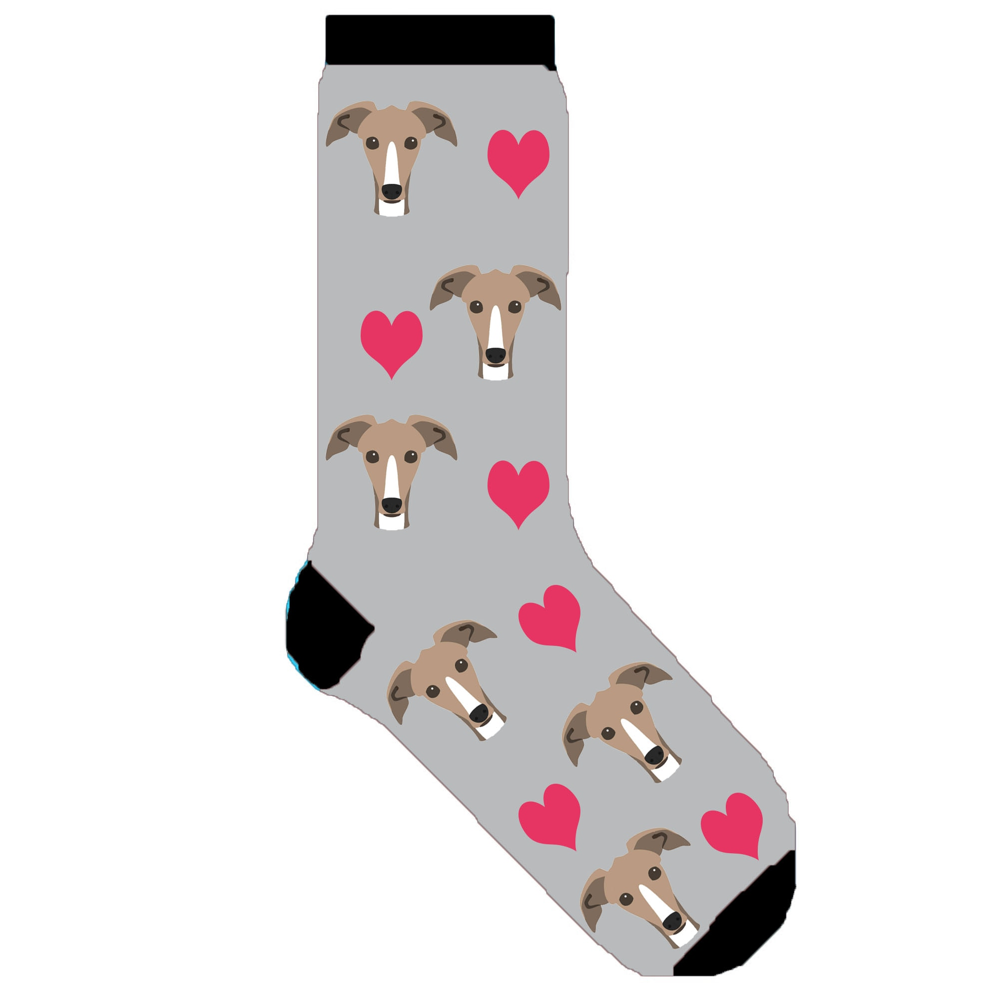 Whippet socks novelty GREYHOUND women dog socks fun greyhound puppy gift 50 pair/lot