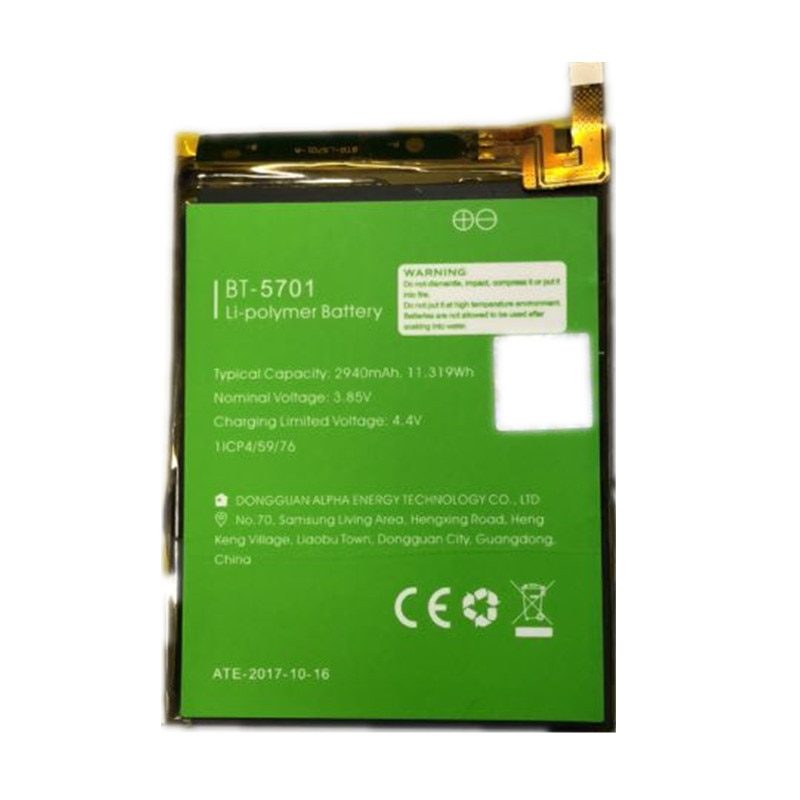 100% batería Original de respaldo Leagoo S8 BT-5701 2940mAh para teléfono inteligente Leagoo S8 + número de seguimiento