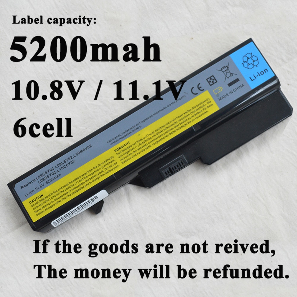 Batterie 4400mAh pour ordinateur portable Lenovo E47G L10P6F21 LO9S6Y02 b570e V360A Z370 K47A Z560 Z579 V370 Z570 Z470G Z465G Z465G E47L