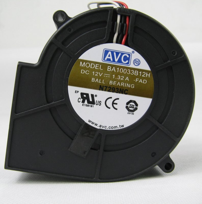 Original para AVC BA10033B12H DC12V 1.32A 9 cm 9733 3 cables de ventilador de refrigeración