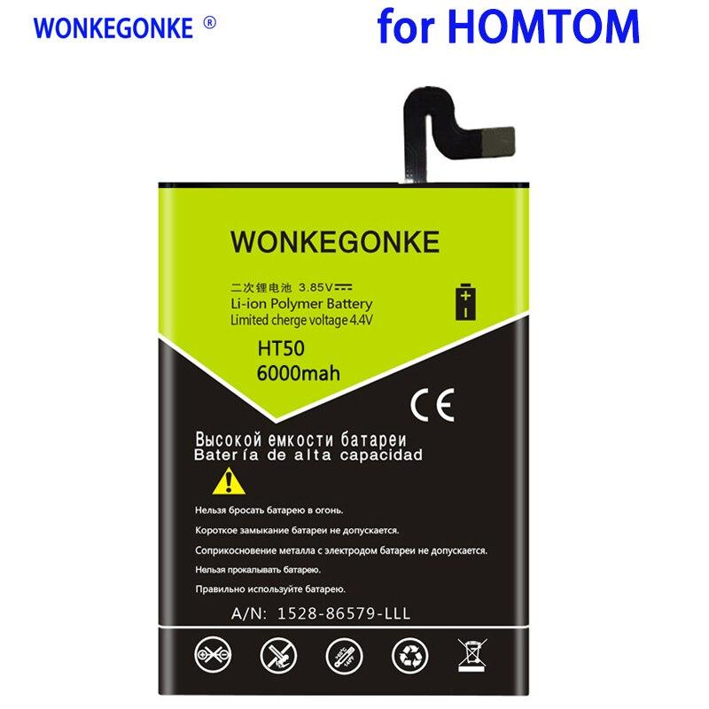 WONKEGONKE 6000mah Battery For Homtom HT50 Mobile Phone Batteries