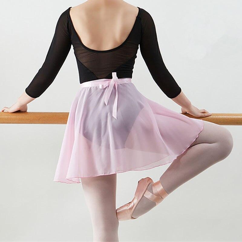 Ushine qualidade adulto chiffon ballet dança tutu saia ginástica skate envoltório saia formação professor ballet saias das meninas das mulheres