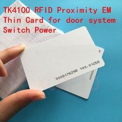 125 khz EM4100 TK4100 Cartão de Proximidade RFID Com 64 bits de Memória Para O Interruptor de Alimentação do Sistema de Acesso À Porta