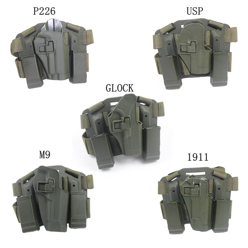 CQC Gun Holster for Glock USP P226 M9 1911 Airsoft Tactical Thigh Leg Holster Platform Gun Accessories For Hunting