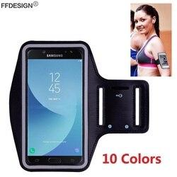 Capa de celular com suporte de braço para samsung, capa manual para esportes samsung galaxy a3 a5 2016 j3 j5 2017 braçadeira de academia corrida