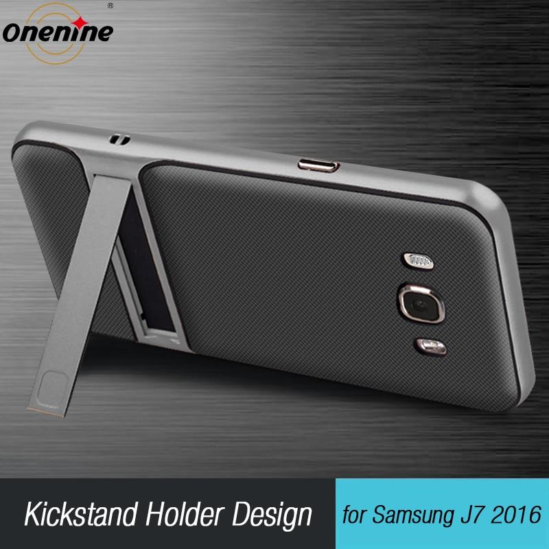 "Funda móvil 3D Kickstand para Samsung Galaxy J7 2016 funda de silicona 5,5 ""TPU PC híbrida funda trasera de teléfono samsungJ7 J710 J7 LTE"