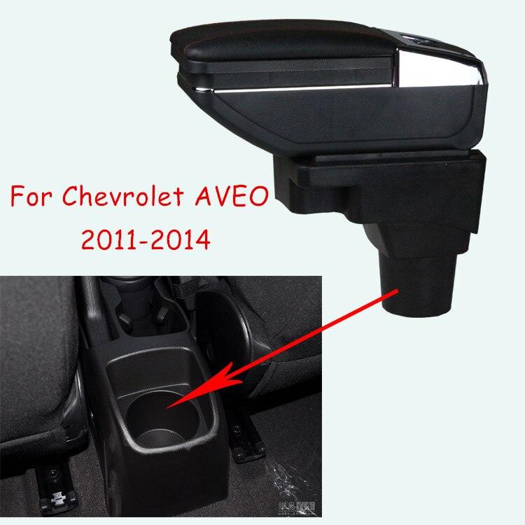 Поворотный Автомобильный консольный ящик для Chevrolet AVEO 2011-2014, подлокотник для автомобиля с держателем для чашки пепельница, аксессуары для а...