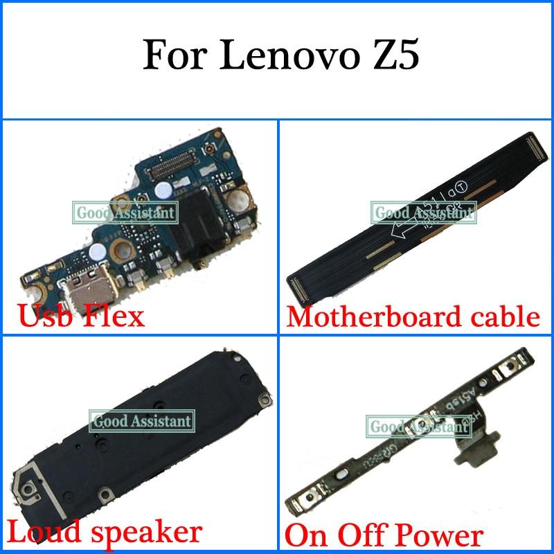 Para Lenovo Z5 L78011 L78012 Usb Flex cable de placa base altavoz fuera de botón de teclado de volumen Cable Flex