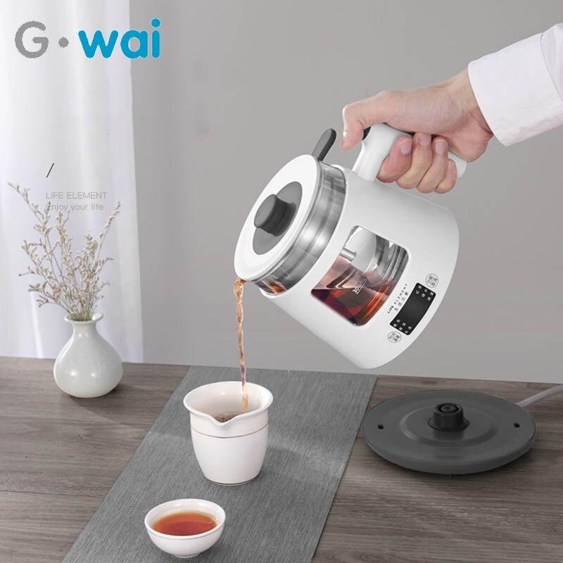 800 мл многофункциональный автоматический паровой стеклянный электрический чайник для сохранения здоровья стеклянный вареный чайник бутылка теплый чайник 220 В