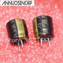 100PCS High frequency 4V 680UF 8X8mm Aluminum electrolytic 680uF 4V 8*8mm 105C capacitors