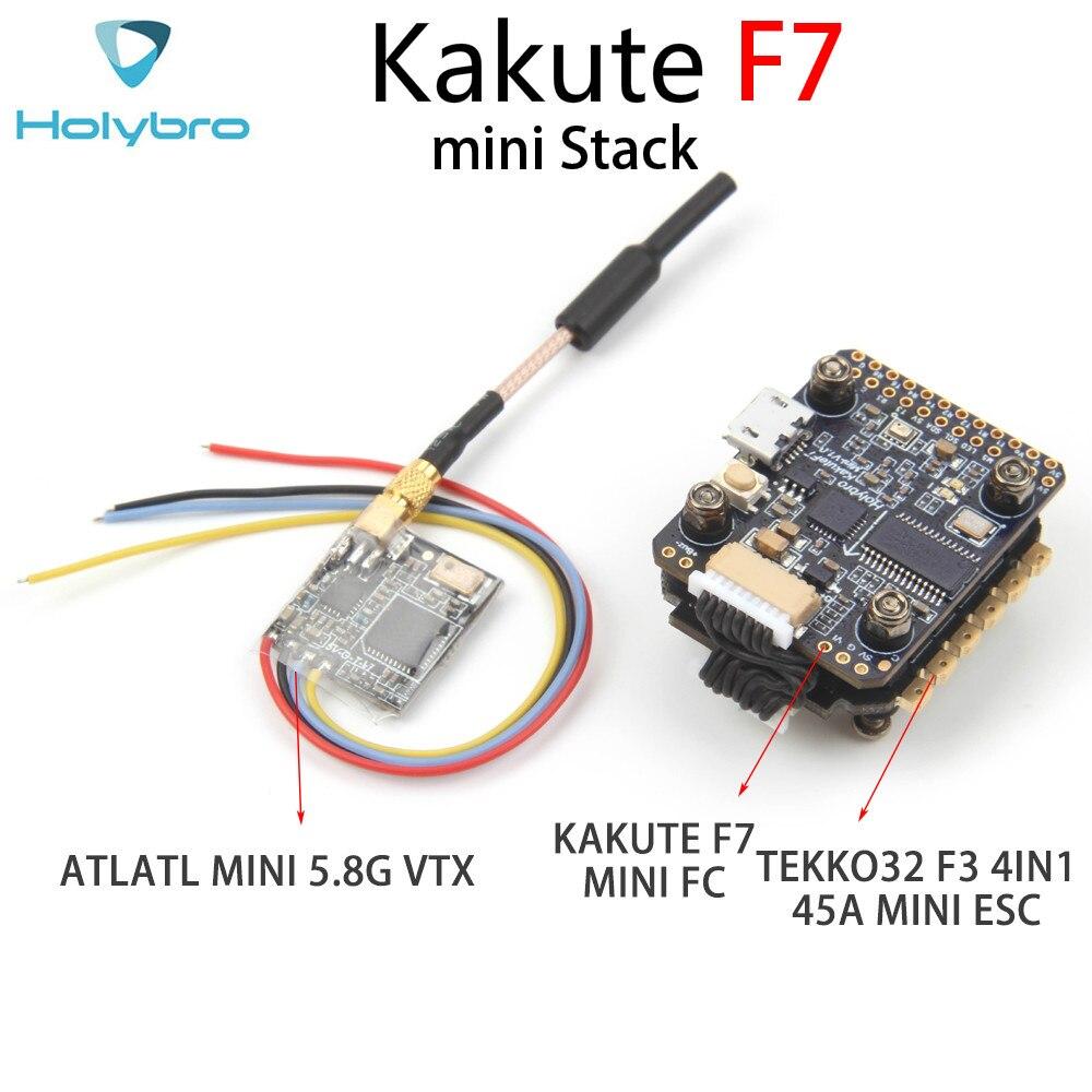 Holybro Kakute F7 mini controlador de vuelo y Tekko32 F3 4 en 1 45A mini ESC & Atltal mini VTX 5,8G Combo mini Stack 20*20mm, montaje hol