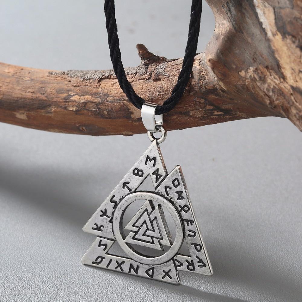 CHENGXUN Norse Valknut РУНИЧЕСКАЯ подвеска-символ викинга Бога Odin-Asatru, Старший ФУТАРК Talisman Оловянная подвеска, амулет