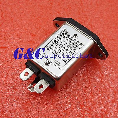 Filtro EMI RFI AC 250V 10A CW1D-10A-T supressor línea de alimentación filtro de ruido