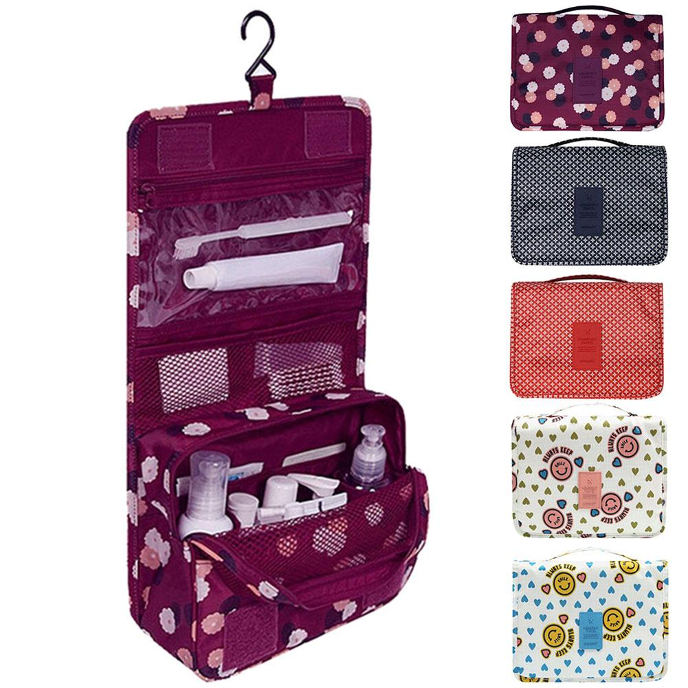 Organizador de bolsa colgante portátil plegable bolsa de almacenamiento de bolsillo bolsa de viaje para el hogar bolsas colgantes organizador de maquillaje cosmético