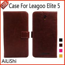 AiLiShi Flip Leather Case Voor Leagoo Elite 5 Case Book Style Beschermende Cover Phone Bag Portemonnee Met Card Slot!