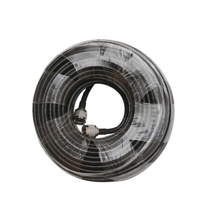 Коаксиальный кабель с низким уровнем потери RG6, 20 метров, 50 ом, разъем типа «Папа-папа», соединительный кабель Coax для мобильного телефона, уси...