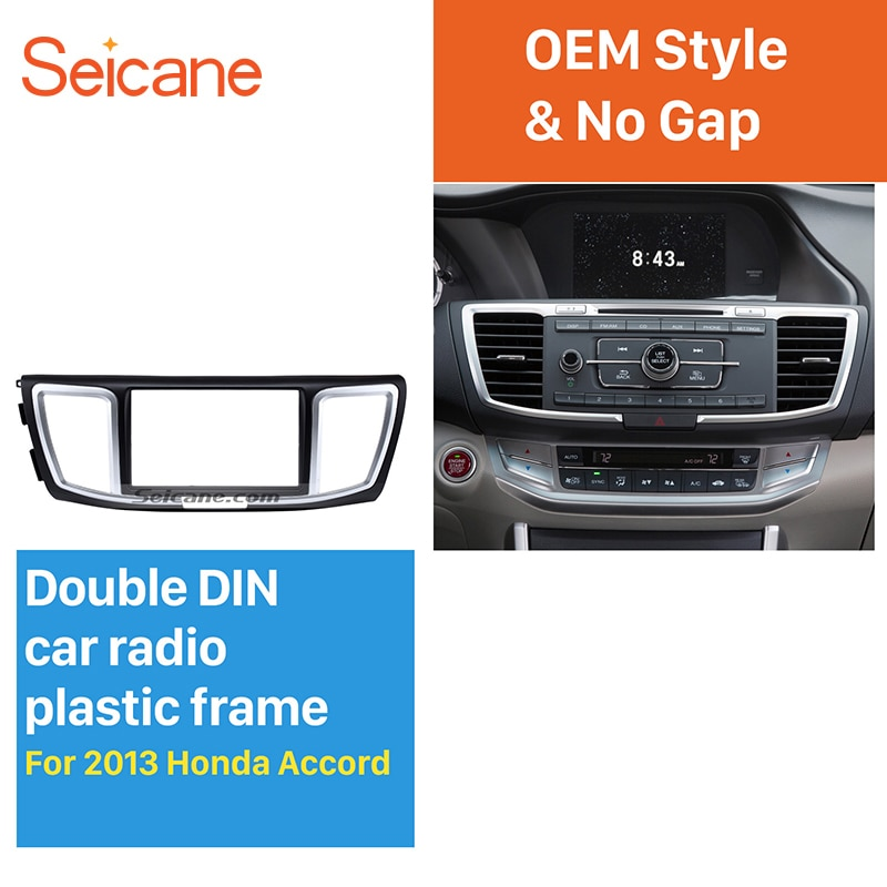 Seicane Dashboard 2 Din Car Radio Fascia for 2013 Honda Accord Auto stereo Adapter DVD Panel Dash Kit Audio frame