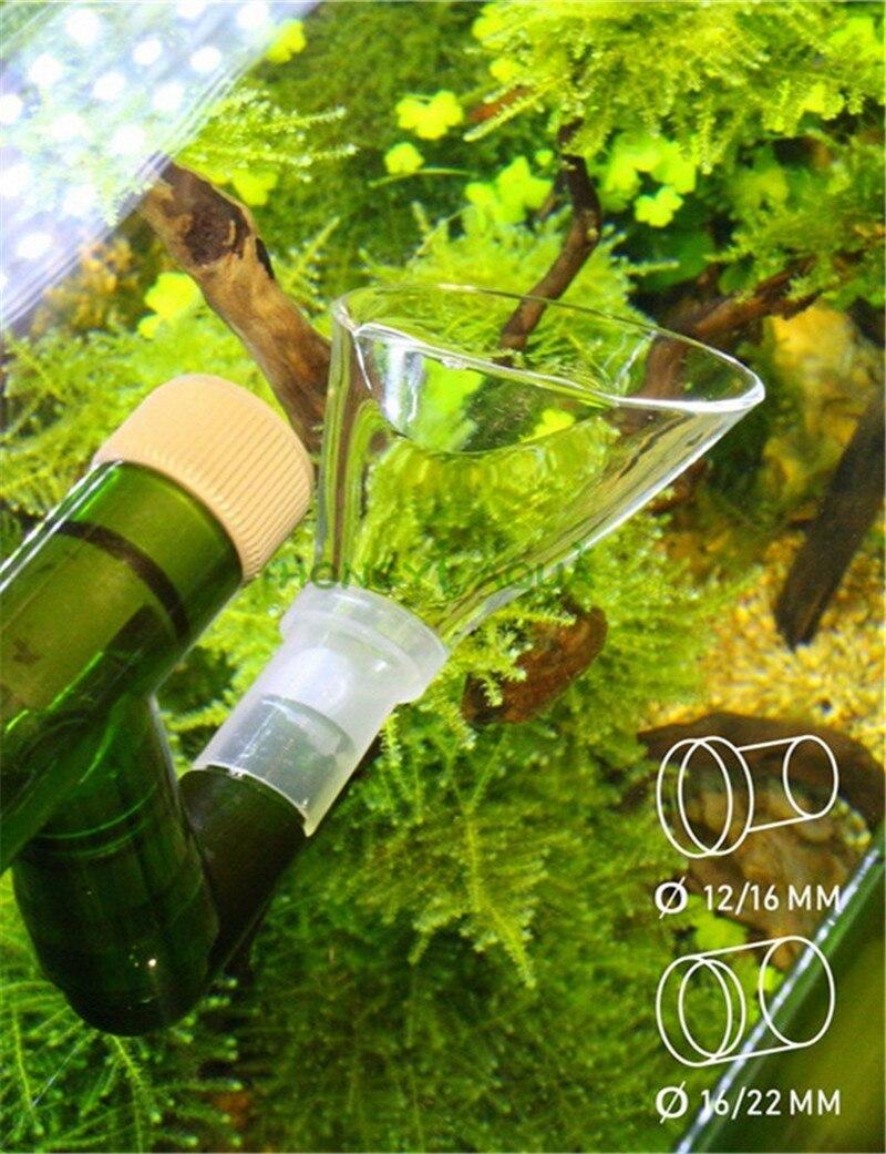 Accesorios de filtro, salida de bocina, Boca de lirio, se puede conectar a tuberías de entrada y salida de acero inoxidable de vidrio, suministros para acuario