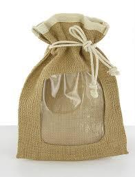 "T096, 15X20cm (6 ""X8""), envío gratis, personalizado PVC ventana transparente yute cordón bolsas de arpillera, bolsa de arpillera, personalizado aceptable"