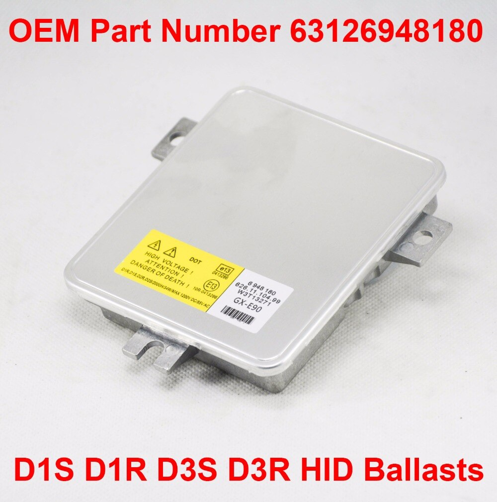 OEM 2x12V 35W D1R D1S D3R D3R D3S   OEM, unité de commande de Ballast de phare au xénon HID OEM Part no.63126948480 pour BMW Sedan Wagon E90 E91