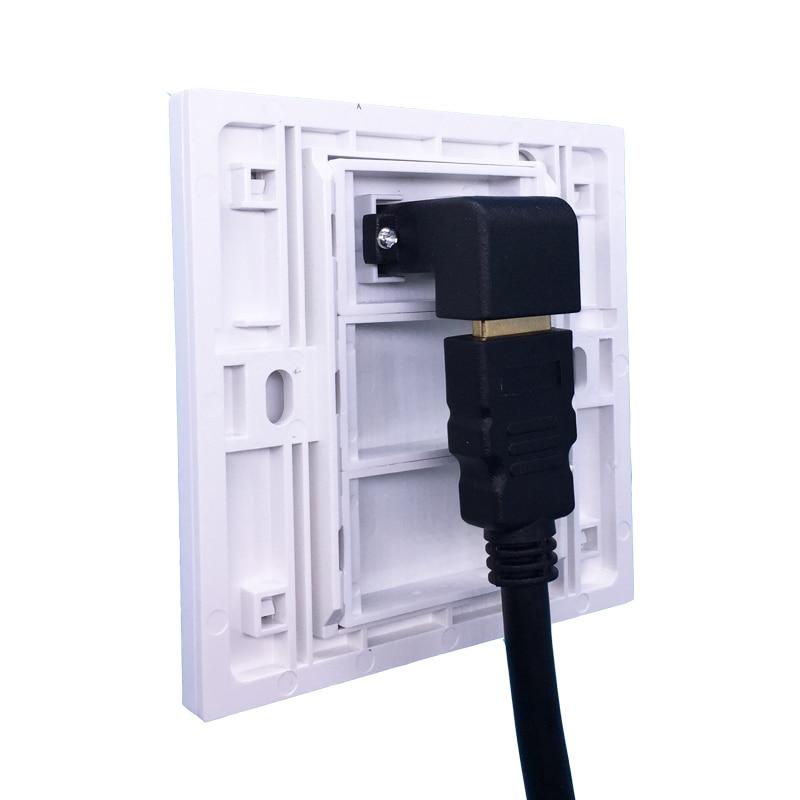 Белый цвет локоть HDMI1.4 панель настенного выхода Лицевая панель L Форма HDMI разъем для проектора DVD PS Wii Xbox